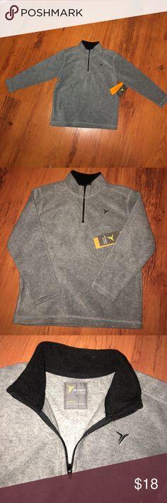 💥💥Boys fleece pull over 💥💥 💥💥💥 gray and black fleece pullover 💥💥💥 Old Navy Shirts & Tops Sweatshirts & Hoodies