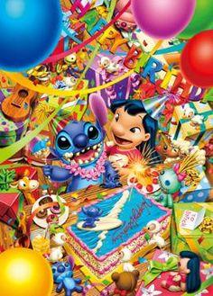 Japan Jigsaw Puzzles Tenyo Disney Characters Lilo and Stitch Happy Birthday Party Origin : Japan (Made in Japan) Condition : Bran Disney Pixar, Walt Disney, Cute Disney, Disney Cartoons, Disney Dream, Disney Art, Disney Magic, Disney Characters, Disney Crafts