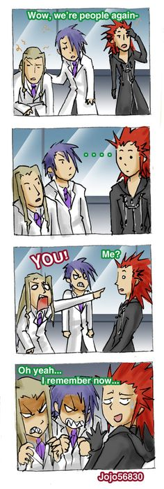 this is what I've been saying all along. What happens when they wake up after Axel kills them all and...what? they're just buddies again? // KH 3DS Spoof: Remember? by jojo56830.deviantart.com.