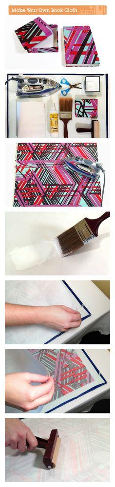 How to make your own archival book cloth via craft.tutsplus.com. #FreeTutorial #Bookbinding #BookCloth