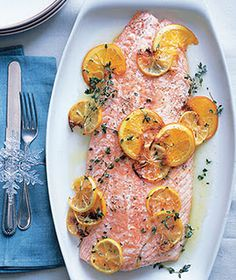 Salmon Filet with Citrus and Thyme