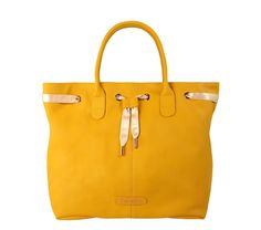 Tote 'Deuxieme Arabesque' Empereur yellow Silk calfskin by Repetto - Collection fall-winter 2014 #fashion #style #housetrends See more at: http://www.housetrendsmag.com