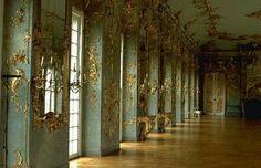 Baroque gilded plasterwork in the Schloss Charlottenburg Palace Berlin Germany