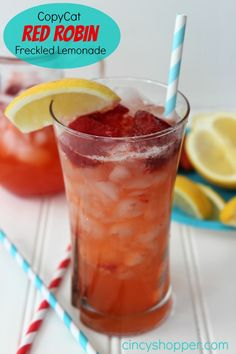 Copycat Red Robin Freckled Lemonade. Simple recipe but full of great flavor and perfect for spring and summer refreshment.