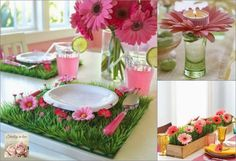 Spring table decoration, I like the one in the bottom right corner.