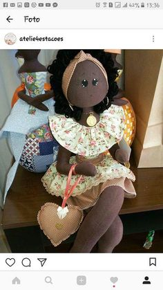 Doll Sewing Patterns, Doll Clothes Patterns, Crochet Patterns, African Crafts, African Dolls, Doll Home, Harvest Decorations, Soft Dolls, Diy Doll