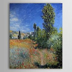 Famous Oil Painting Landscape on the Ile Saint-Martin by Claude Monet – USD $ 79.99