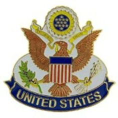 "Seal of The USA Emblem Pin 1 5/8"" by FindingKing. $11.50. This is a new Seal of The USA Emblem Pin 1 5/8"""
