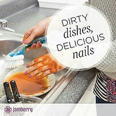 Don't you hate when you wash your hands or do dishes and the finger polish chips right off. I sure do and I found and witness that wearing Jamberry nails wraps are so durable that they even stay on when getting your hands wet or dirty.  www.JamminNailswithLiz.jamberry.com