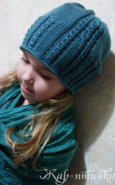cable ribbed hat