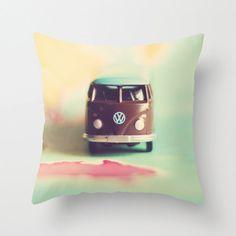 Nursery Decor Pillow Cover  VW Bus Down Under  home by annadykema, $36.00