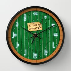 Awesome hobbit wall clock with actual elvish hours!