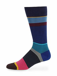 Paul Smith Step Stripe Socks Men's Socks, Dress Socks, Cool Socks, Sock Shoes, Shoe Boots, Fashion Socks, Mens Fashion, Les Brown, Winter Socks