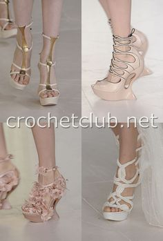 The unusual footwear. Podium