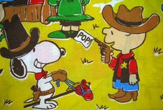 Snoopy and Charlie Brown Cowboys.