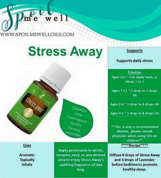 Stress Away Essential Oil, Young Living, favorite oil, dilution ratios, how to use Stress Away Young Essential Oils, Essential Oils For Stress, Essential Oil Uses, Natural Stress Relief, Young Living Oils, Perfume, Yoga, Yl Oils, Copaiba
