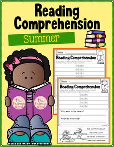 There are 20 pages of reading comprehension worksheets. Each page contains 3 or 4 sentences passage and 2 questions. Students have to cut and paste the puzzle pieces. This product is suitable for Kindergarten and first grade students. You can use them as classroom activities, morning work, homework, and literacy centers. Kindergarten | Kindergarten Worksheets | First Grade | Puzzles | Reading Comprehension | Summer Reading Comprehension | Printables | Worksheets | Motor Skills Kindergarten Blogs, Kindergarten Worksheets, Classroom Activities, Reading Comprehension Worksheets, Common Core Reading, Teaching First Grade, 2nd Grade Classroom, Picture Puzzles, Teacher Organization