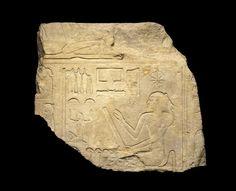 Goddess Seshat, ca. 1919-1875 B.C.E. Limestone, 20 11/16 x 23 1/4 in. (52.5 x 59 cm). Excavated, Lisht, Egypt.