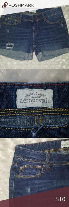 Aeropostale midi denim shorts Aeropostale midi denim shorts, size 5/6.  100% cotton Aeropostale Shorts