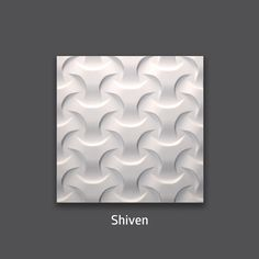 Shiven 3D Gypsum Decorative Wall Tile. Available in 16x16 and 32x32.