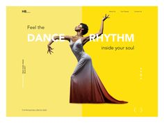 Hi dribbblers,  No secret, motion is life. Our today's shot is about the beauty of motion: here's the concept of the landing page for the dance academy called HeartBeat. The elegant minimalistic la...