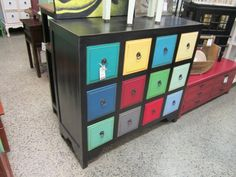 Color Block chest of drawers.  $629. Measures: 49W 19.5D 45.25H.