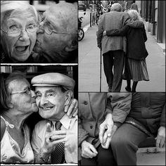 There's something about old people in love that just melts my heart. This hopefully will be us all - one day !