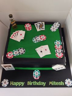 Poker themed cake 40th …