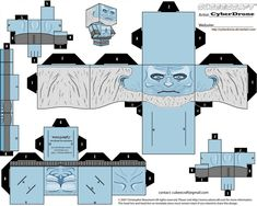 My Custom Cubeecraft / Papercraft Cutout template of a White Walker. From The HBO TV series Game of Thrones. (All My Custom Fan Art Cubeecraft Templates. Game Of Thrones Weapons, Game Of Thrones Movie, Game Of Thrones Map, Game Of Thrones Jewelry, Game Of Thrones Costumes, Game Of Thrones Drawings, Game Of Thrones Collectibles, Paper Cube, Hbo Tv Series