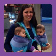 Babywearing twins, travel, flying with kids Visit us at multiplesandmore.com for more tips on parenting twins or more.