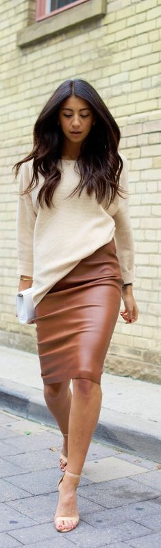 Neutral Pencil Sweater  / Fashion By Not Your Standard