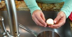 How To De-Shell Your Hard-Boiled Eggs Just Like The Pros Do ****Have tried this twice and both times the shells just slid off of the egg....will never try any other way to de-shell a hard boiled egg....and will probably make them more often now/jan 9/28/2015*****