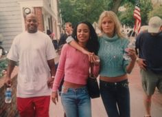"""aaliyahalways: """" """" """"You always find these great gems or shall we call them blasts from the past hehe.. Like these old pictures of my baby @maydersen with #Aaliyah & @duskopoppington ❤️ """" -..."""