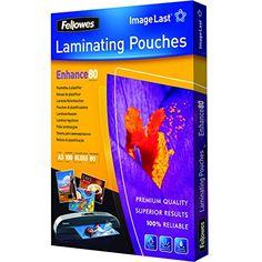 Fellowes 5306207 Pochettes de Plastification ImageLast A3 80 Microns - Paquet de 100
