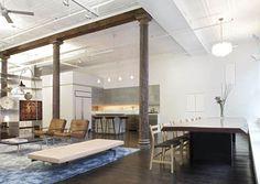 Diseño de Interiores & Arquitectura: Increíble espacio tipo loft industrial en Nueva York.