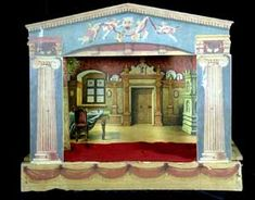 toy theatre - Google Search Little Theatre, Toy Theatre, Theater, Vintage Toys, Vintage Art, Victorian Toys, Find Objects, Paper Houses, Paper Models