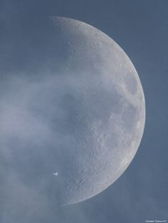 photographer Maximilian Teodorescu from Romania captured the International Space Station silhouetted against the Moon in broad daylight