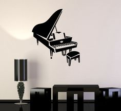 Vinyl Decal Piano Music Musical Instrument Art Wall Stickers Mural (ig2787)