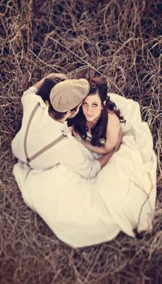 22 Wedding Photo Ideas & PosesConfetti Daydreams – wedding couple pose hay field hat