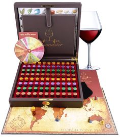 Master Sommelier Wine Aroma Kit - 88 aromas for wine tasting and education. World's largest collection of Wine Aromas. Complementary tool for wine appreciation. Seen on TV: https://www.youtube.com/watch?v=8CovxwSFDow&feature=youtu.be
