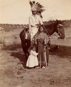 Native American family.