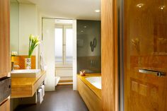 Babuino 181 in Rome, Italy - Classic Suite: The mosaic-and-marble bathroom offers a roomy shower and a separate bath, along with Frette bathrobes and Italian toiletries.