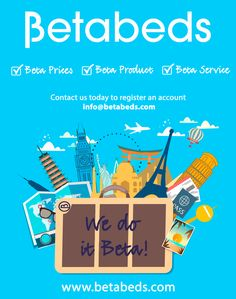 #Betabeds - your #travel #trade #accommodation #supplier - contact us today to open your account info@betabeds.com #adventure #worldtravel #escape