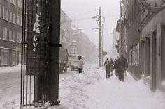 Ernst-Thälmann-Straße, 1987. Leipzig East Germany, Snow, City, Winter, Outdoor, Leipzig, Time Travel, Vintage Photos, Remember This