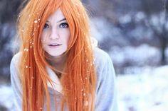 Светло-рыжие волосы