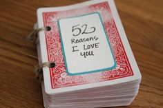 The deck of cards with reasons on each one is a cheap, but great way to let your guy know how much you love him <3
