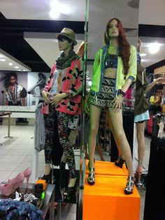 SS11 'kaleidoscope' mannequin grouping || styled to Native trend