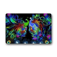 "Gorgeous Fascinating Peacock Feathers Art Design colorful Beautiful Peacock Doormat Mat 23.6""(L) x 15.7""(W) The Peacock http://www.amazon.com/dp/B00NYNVWJ8/ref=cm_sw_r_pi_dp_Ck3uub0T6K3T8"