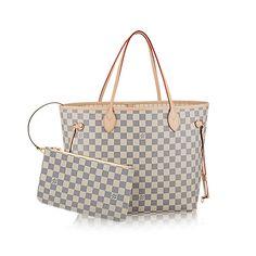 "Neverfull MM - Damier Azur Canvas - Handbags | LOUIS VUITTON ""Thinking of getting this as my next handbag"""