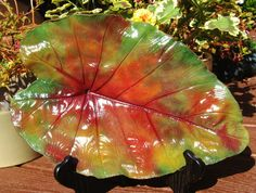 Fall home decor leaf casting by ConcreteImpressions on Etsy, $37.00